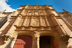 Facade at the University of Salamanca Royalty Free Stock Image