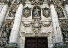 Facade of University in Valladolid, gorizont Royalty Free Stock Photos
