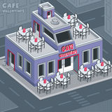 Facade valentine cafe   Stock Image