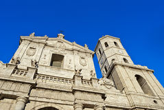 Facade of the Valladolid Cathedral, Spain. Royalty Free Stock Image