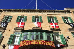 Facade in Valletta, Malta Royalty Free Stock Image