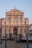 Facade of Venetian church Royalty Free Stock Photography