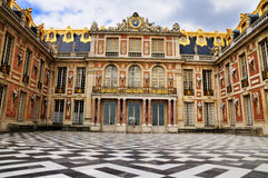 Facade of the Versailles. The facade of the Palace of Versailles in Paris, France royalty free stock images