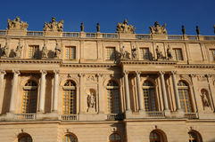 Facade of Versailles Palace Stock Photos