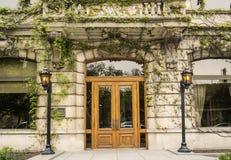 Facade. Very rustic old facade with a wooden door Royalty Free Stock Photo