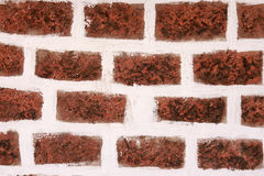The facade view of brown brick wall. Royalty Free Stock Photography