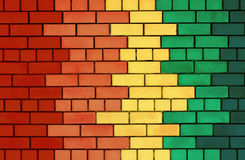Colorful brick wall Stock Photos