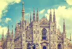 Facade view of Duomo di Milano Milan Cathedral, Italy Stock Image