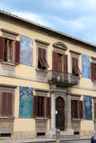 Facade view in Montecatini Terme Stock Image