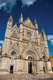 Facade view of the opulent and monumental Orvieto Cathedral . Royalty Free Stock Photography