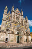 Facade view of the opulent and monumental Orvieto Cathedral in Orvieto. Stock Photography