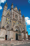 Facade view of the opulent and monumental Orvieto Cathedral in Orvieto. Stock Photo