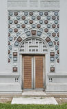 Facade of the vintage building Royalty Free Stock Images
