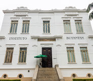 Facade of Vital Brazil Building in Butantan Institute Royalty Free Stock Images