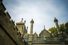Facade of Vorontsov palace in Crimea. Closeup stock photos