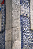 Facade with wall tiles Royalty Free Stock Images