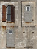 Facade - walled windows Stock Photography