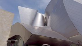 Facade of Walt Disney Concert Hall - LOS ANGELES, USA - APRIL 1, 2019. Facade of Walt Disney Concert Hall - LOS ANGELES, UNITED STATES OF AMERICA - APRIL 1, 2019 stock video