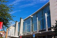 Facade of The Walter E. Washington Convention Center in Washington DC on September 22, 2016. Royalty Free Stock Photos