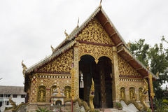 Facade of Wat Jet Yot. Buddhist temple in  Chiang Rai, north Thailand Stock Image