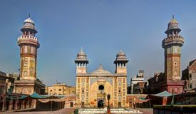 Facade of Wazir Khan Mosque, Lahore Stock Image