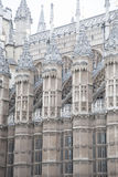 Facade of Westminster Abbey Church, London. Detail on the Facade of Westminster Abbey Church, London, England, UK Royalty Free Stock Images