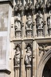 Facade of Westminster Abbey in London Stock Photography