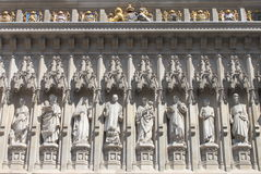 Facade of Westminster Abbey. With the statue of Martin Luther King Royalty Free Stock Photos