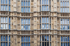 Facade of the Westminster Palace in London Royalty Free Stock Photo