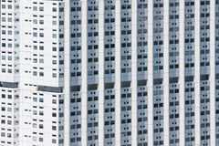 Facade of a white building Royalty Free Stock Images