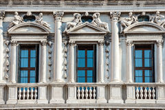 Facade of white Doge's Palace in Venice Stock Image