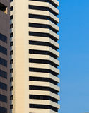 Facade of White Office Building, Blue Sky Background Royalty Free Stock Photography