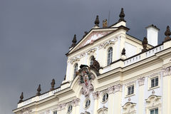 Facade of white palace Royalty Free Stock Image