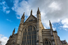 Facade of Winchester Cathedral in England Royalty Free Stock Photography