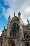 Facade of Winchester Cathedral in England Stock Photo