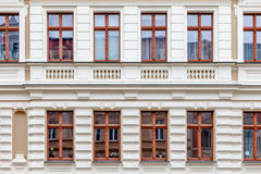 A facade of a windowed building in Germany stock photography