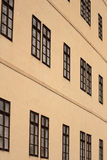 Facade with windows. Facade of a palace with many windows Royalty Free Stock Photo