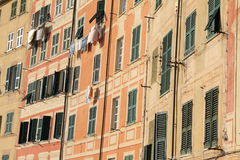 Facade with windows Royalty Free Stock Images