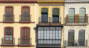 Facade with windows Royalty Free Stock Image