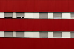 Facade and windows of a building Royalty Free Stock Photo