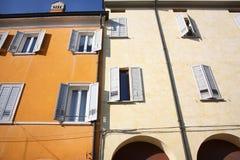 Facade with windows Stock Photo