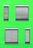 Facade with windows in different sizes Royalty Free Stock Photography