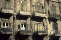 Facade, windows and shutters. InAleppoSyria Royalty Free Stock Images
