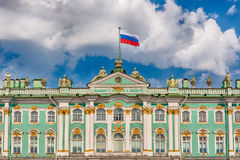 Facade of the Winter Palace, Hermitage Museum, St. Petersburg, R Royalty Free Stock Photos