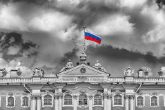 Facade of the Winter Palace, Hermitage Museum, St. Petersburg, R Royalty Free Stock Image