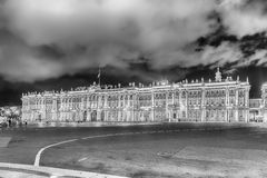Facade of the Winter Palace, Hermitage Museum, St. Petersburg, R Royalty Free Stock Images