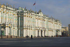 The facade of the Winter Palace from Palace square. Saint-Petersburg, Russia Royalty Free Stock Image