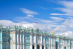 Facade of Winter Palace in St.Petersburg Royalty Free Stock Photo