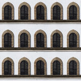 Facade witn windows Royalty Free Stock Photos