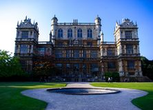 Facade of Wollaton Hall in Nottingham stock photo